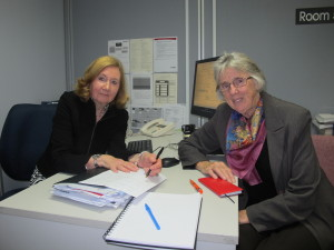 AMES Counselling Coordinator Heather Weaver and Sister Joan Healy.